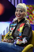 Singer Rita Ora attends a taping of MTV's new talk show 'Girl Code Live' 'Girl Code Live' airs Mondays at 1030 PM ET/PT at 1515 Broadway on September...