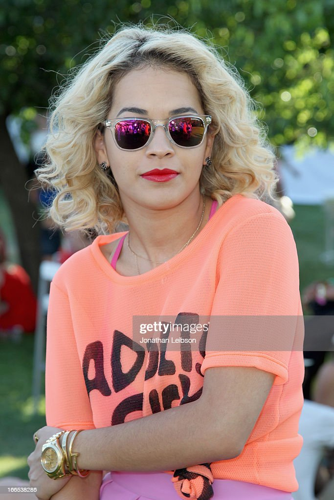 Singer Rita Ora attends LACOSTE L!VE 4th Annual Desert Pool Party on April 13, 2013 in Thermal, California.