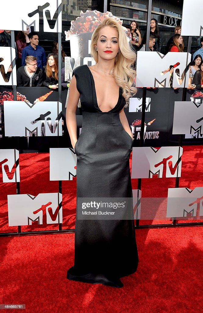 Singer Rita Ora attends the 2014 MTV Movie Awards at Nokia Theatre L.A. Live on April 13, 2014 in Los Angeles, California.