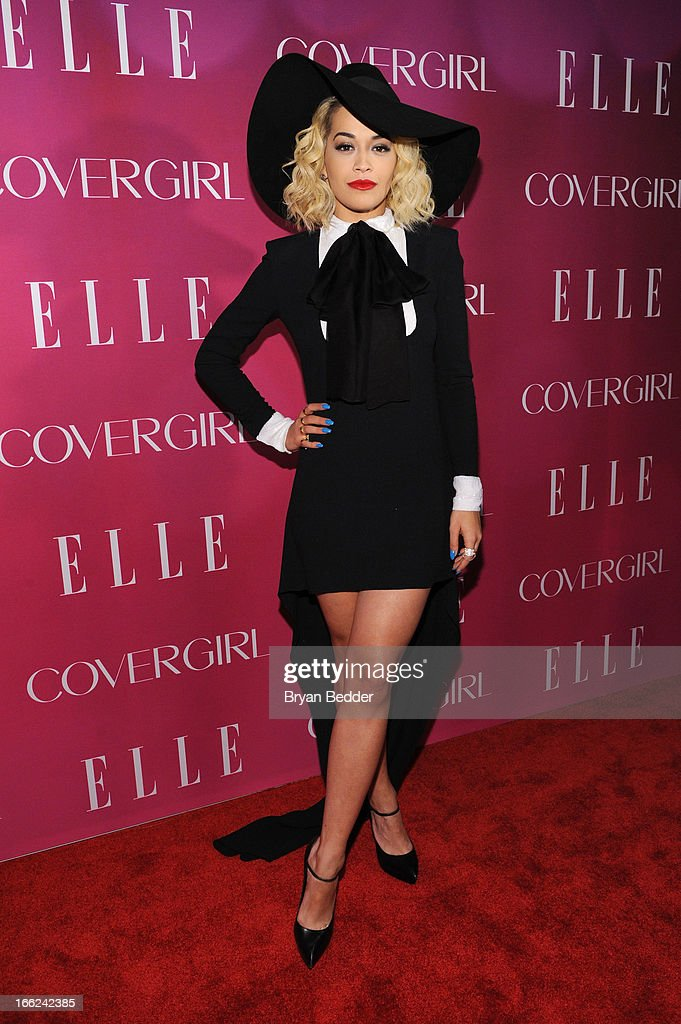 Singer <a gi-track='captionPersonalityLinkClicked' href=/galleries/search?phrase=Rita+Ora&family=editorial&specificpeople=5686485 ng-click='$event.stopPropagation()'>Rita Ora</a> attends the 4th Annual ELLE Women in Music Celebration at The Edison Ballroom on April 10, 2013 in New York City.