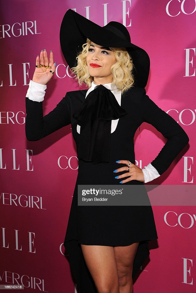 Singer Rita Ora attends the 4th Annual ELLE Women in Music Celebration at The Edison Ballroom on April 10, 2013 in New York City.