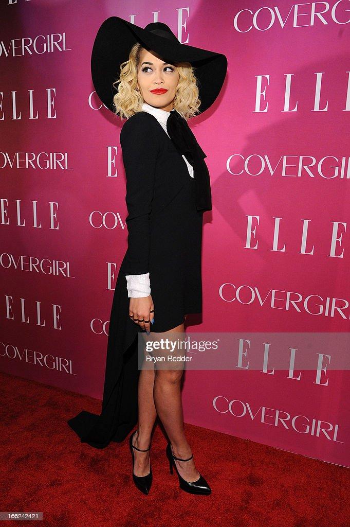 Singer Rita Ora attends the 4th Annual ELLE Women in Music Celebration at The Edison Ballroom on April 10, 2013 in New York City.