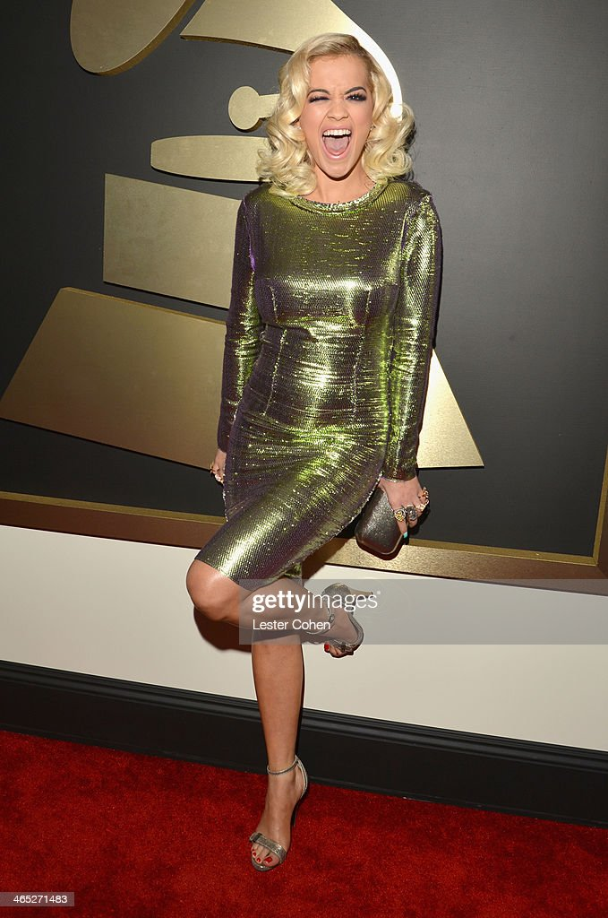 Singer <a gi-track='captionPersonalityLinkClicked' href=/galleries/search?phrase=Rita+Ora&family=editorial&specificpeople=5686485 ng-click='$event.stopPropagation()'>Rita Ora</a> attends the 56th GRAMMY Awards at Staples Center on January 26, 2014 in Los Angeles, California.
