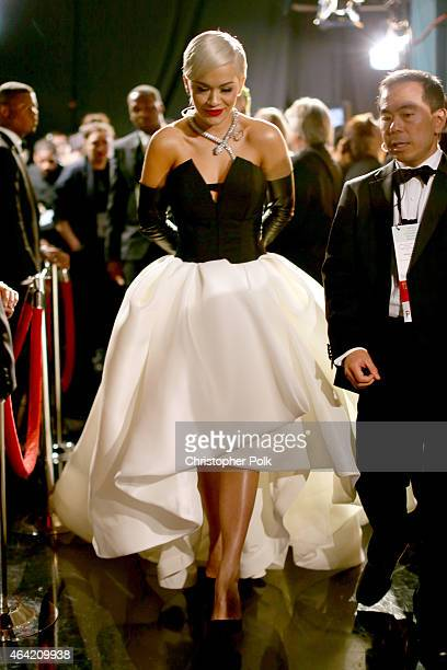 Singer Rita Ora attends the 87th Annual Academy Awards at Dolby Theatre on February 22 2015 in Hollywood California