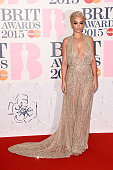 Singer Rita Ora attends the BRIT Awards 2015 at The O2 Arena on February 25 2015 in London England