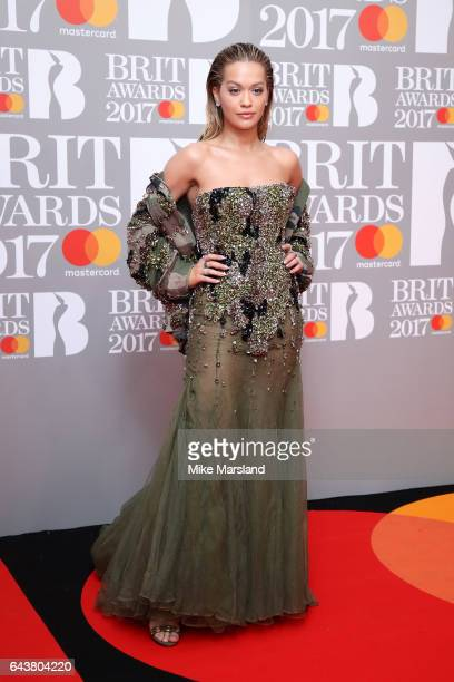 Singer Rita Ora attends The BRIT Awards 2017 at The O2 Arena on February 22 2017 in London England