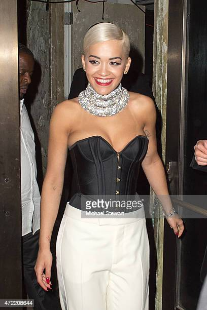 Singer Rita Ora attends the 'China Through The Looking Glass' Costume Institute Benefit Gala after party at the Diamond Horseshoe at the Paramount...
