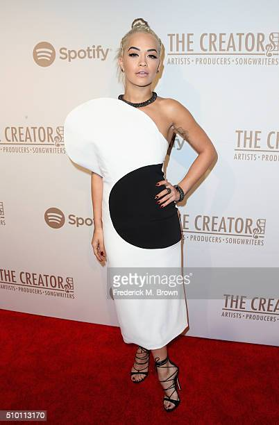 Singer Rita Ora attends The Creators Party presented by Spotify at Cicada on February 13 2016 in Los Angeles California
