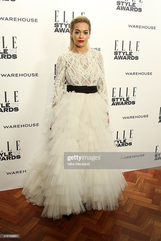 Singer <a gi-track='captionPersonalityLinkClicked' href=/galleries/search?phrase=Rita+Ora&family=editorial&specificpeople=5686485 ng-click='$event.stopPropagation()'>Rita Ora</a> attends the Elle Style Awards 2014 at one Embankment on February 18, 2014 in London, England.