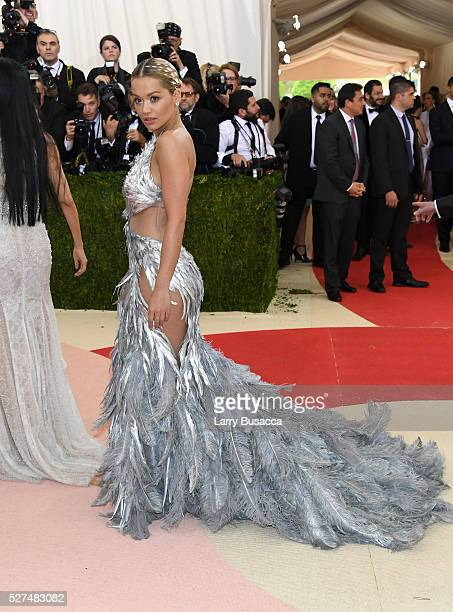 Singer Rita Ora attends the 'Manus x Machina Fashion In An Age Of Technology' Costume Institute Gala at Metropolitan Museum of Art on May 2 2016 in...