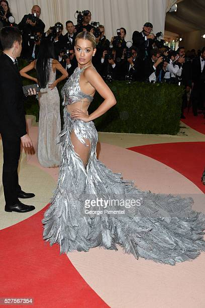 Singer Rita Ora attends the 'Manus x Machina Fashion in an Age of Technology' Costume Institute Gala at the Metropolitan Museum of Art on May 2 2016...