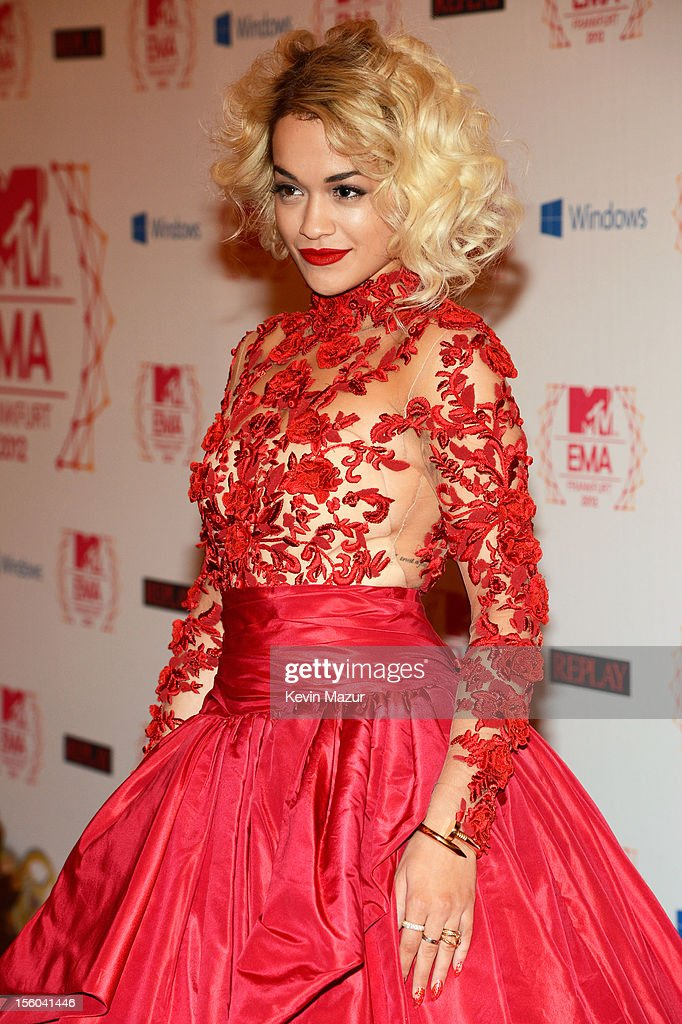 Singer Rita Ora attends the MTV EMA's 2012 at Festhalle Frankfurt on November 11, 2012 in Frankfurt am Main, Germany.