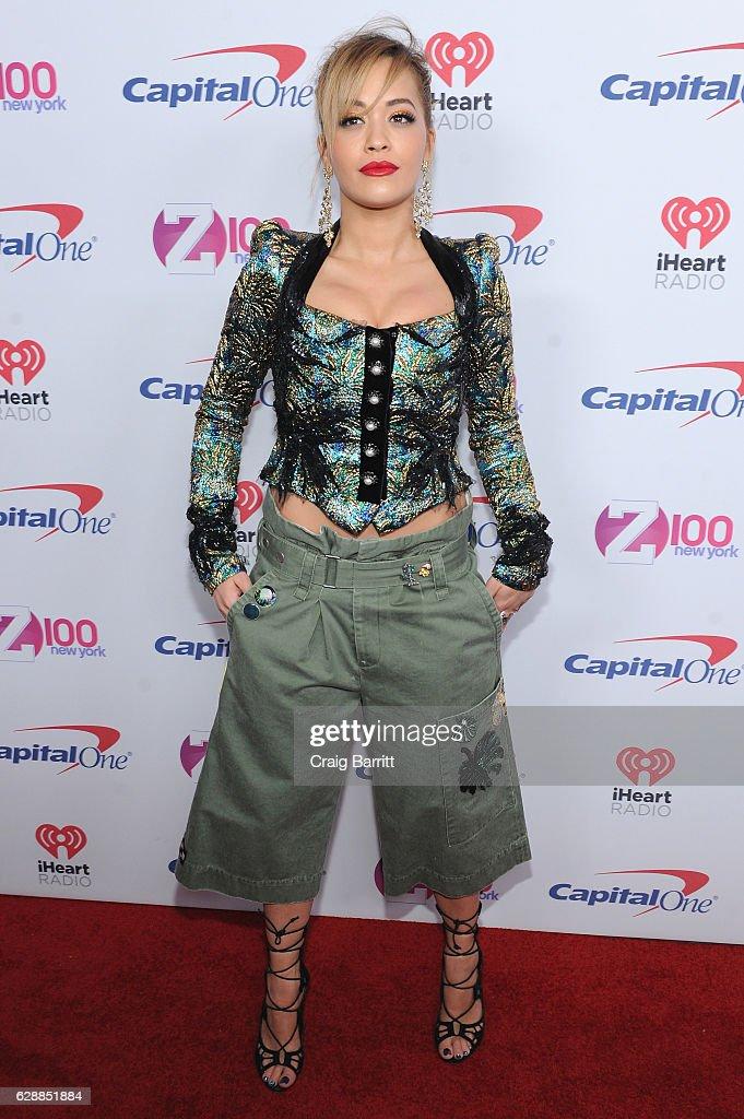Singer Rita Ora attends Z100's Jingle Ball 2016 at Madison Square Garden on December 9, 2016 in New York City.