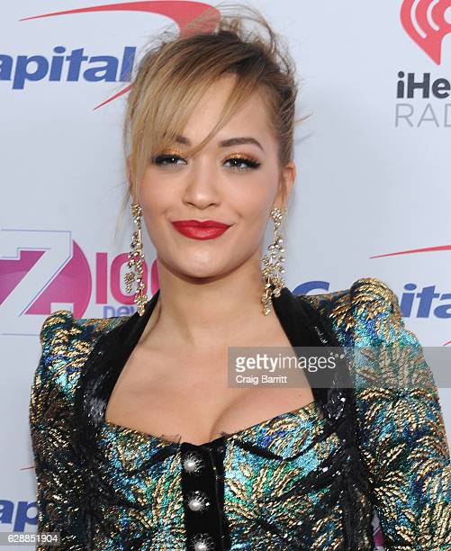 Singer Rita Ora attends Z100's Jingle Ball 2016 at Madison Square Garden on December 9 2016 in New York City