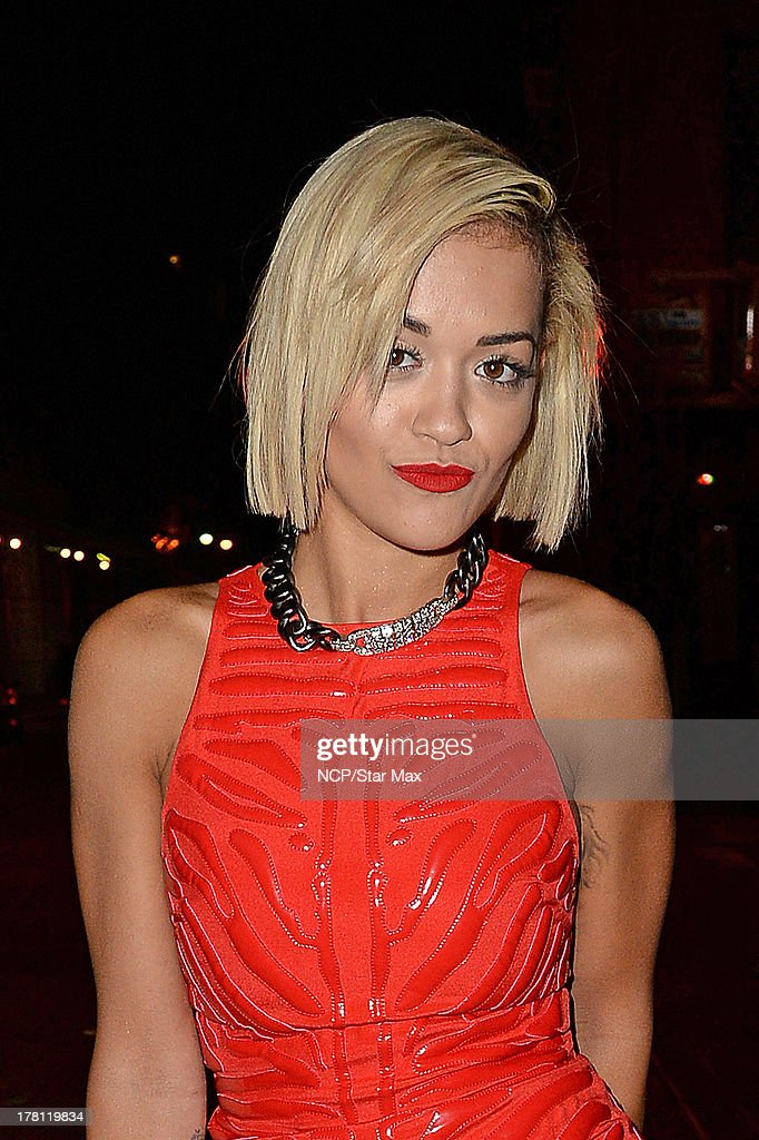 Singer <a gi-track='captionPersonalityLinkClicked' href=/galleries/search?phrase=Rita+Ora&family=editorial&specificpeople=5686485 ng-click='$event.stopPropagation()'>Rita Ora</a> is seen on August 25, 2013 in New York City.
