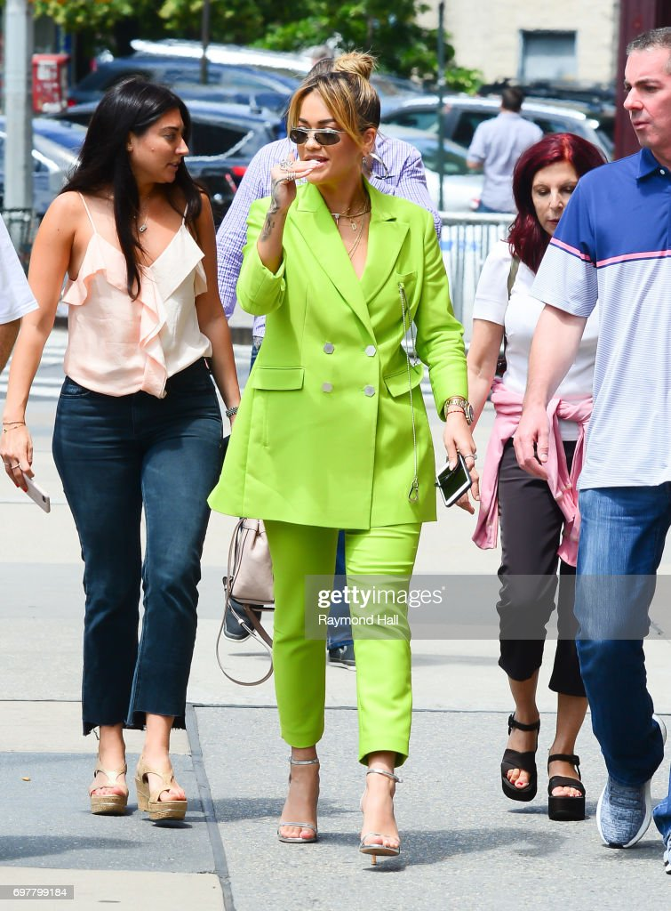 Singer Rita Ora is seen walking in Soho on June 19, 2017 in New York City.