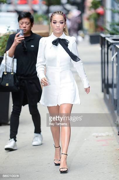 Singer Rita Ora leaves her Tribeca apartment on August 02 2016 in New York City