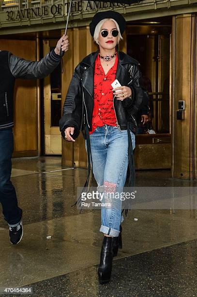 Singer Rita Ora leaves Z100 on April 20 2015 in New York City
