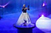 Singer Rita Ora perfoms 'Grateful' from 'Beyond the Lights' onstage during the 87th Annual Academy Awards at Dolby Theatre on February 22 2015 in...