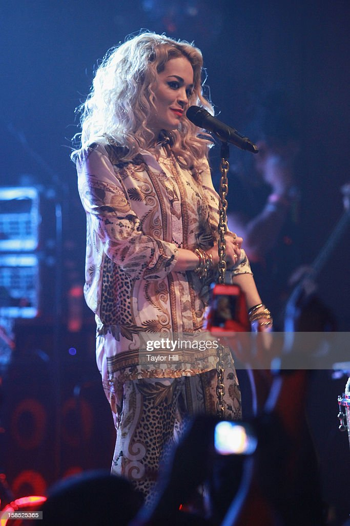 Singer <a gi-track='captionPersonalityLinkClicked' href=/galleries/search?phrase=Rita+Ora&family=editorial&specificpeople=5686485 ng-click='$event.stopPropagation()'>Rita Ora</a> performs at Highline Ballroom on December 17, 2012 in New York City.