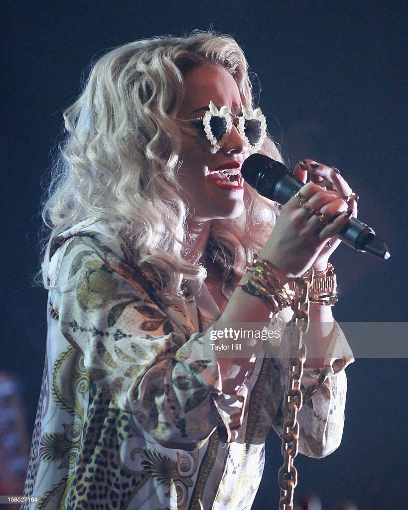 Singer Rita Ora performs at Highline Ballroom on December 17, 2012 in New York City.