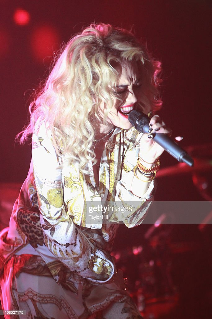 Singer Rita Ora performs at Highline Ballroom on December 17, 2012 in New York City.