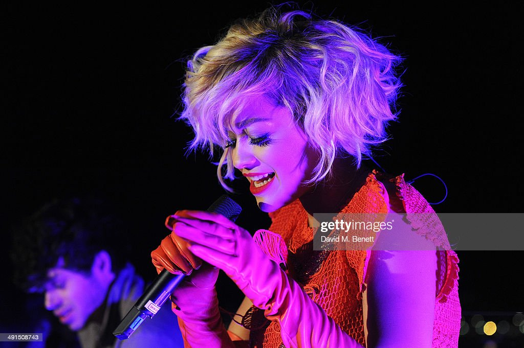 Singer Rita Ora performs at the Belvedere Vodka's Cannes party on May 16 2014 in Cannes France