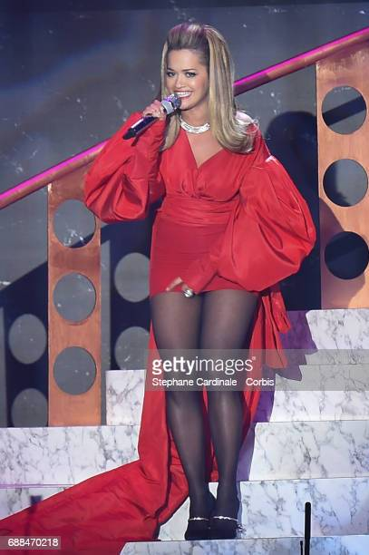 Singer Rita Ora performs during the amfAR Gala Cannes 2017 at Hotel du CapEdenRoc on May 25 2017 in Cap d'Antibes France