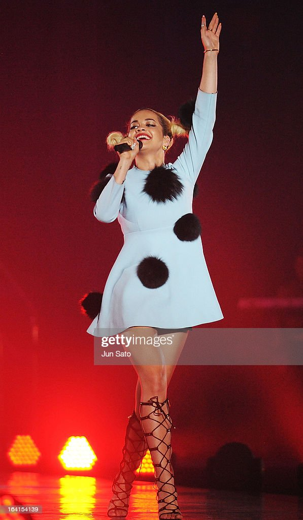 Singer <a gi-track='captionPersonalityLinkClicked' href=/galleries/search?phrase=Rita+Ora&family=editorial&specificpeople=5686485 ng-click='$event.stopPropagation()'>Rita Ora</a> performs during the Tokyo Runway 2013 S/S at Yoyogi National Gymnasium on March 20, 2013 in Tokyo, Japan.
