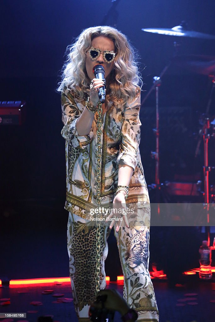 Singer <a gi-track='captionPersonalityLinkClicked' href=/galleries/search?phrase=Rita+Ora&family=editorial&specificpeople=5686485 ng-click='$event.stopPropagation()'>Rita Ora</a> performs on stage at The Highline Ballroom on December 17, 2012 in New York City.