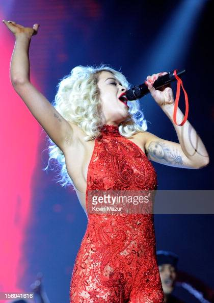 Singer Rita Ora performs onstage during the MTV EMA's 2012 at Festhalle Frankfurt on November 11 2012 in Frankfurt am Main Germany