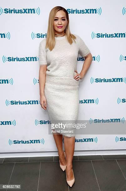 Singer Rita Ora visits the SiriusXM Studios on December 8 2016 in New York City
