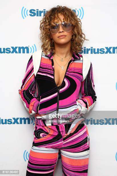 Singer Rita Ora visits the SiriusXM Studios on July 17 2017 in New York City