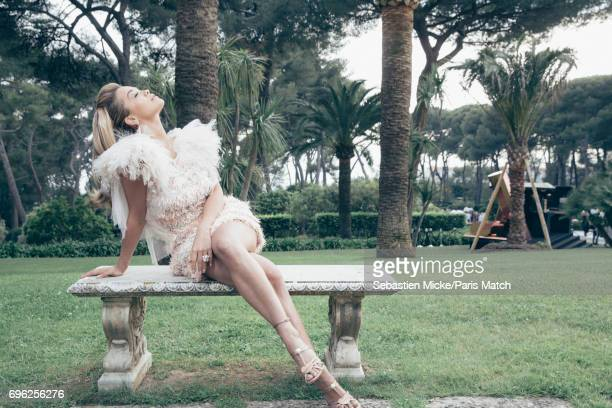 Singer Rita Ora wearing a Chanel dress is photographed for Paris Match whilst attending the Amfar Gala at the Eden Roc Hotel on May 25 2017 in...