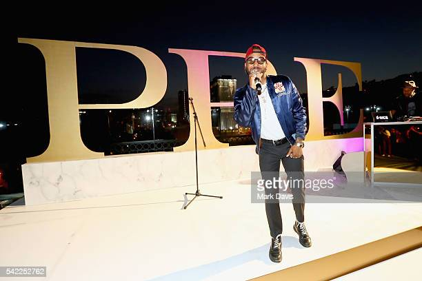 Singer Ro James performs onstage during Debra Lee's PRE kicking off the 2016 BET Awards on June 22 2016 in Los Angeles California