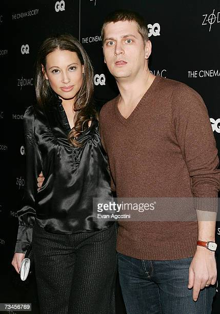 Singer Rob Thomas and wife Marisol attend a special screening of 'Zodiac' hosted by The Cinema Society and GQ Magazine at the Tribeca Grand Hotel...