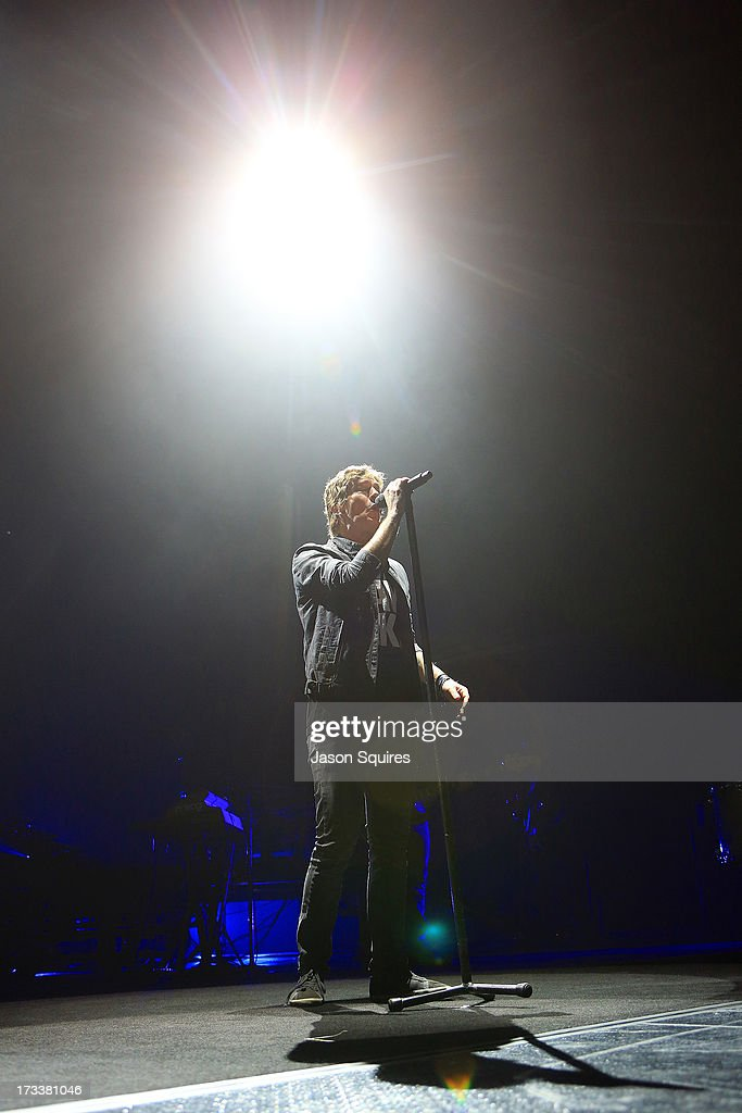 Singer Rob Thomas of Matchbox 20 performs at Sprint Center on July 12, 2013 in Kansas City, Missouri.