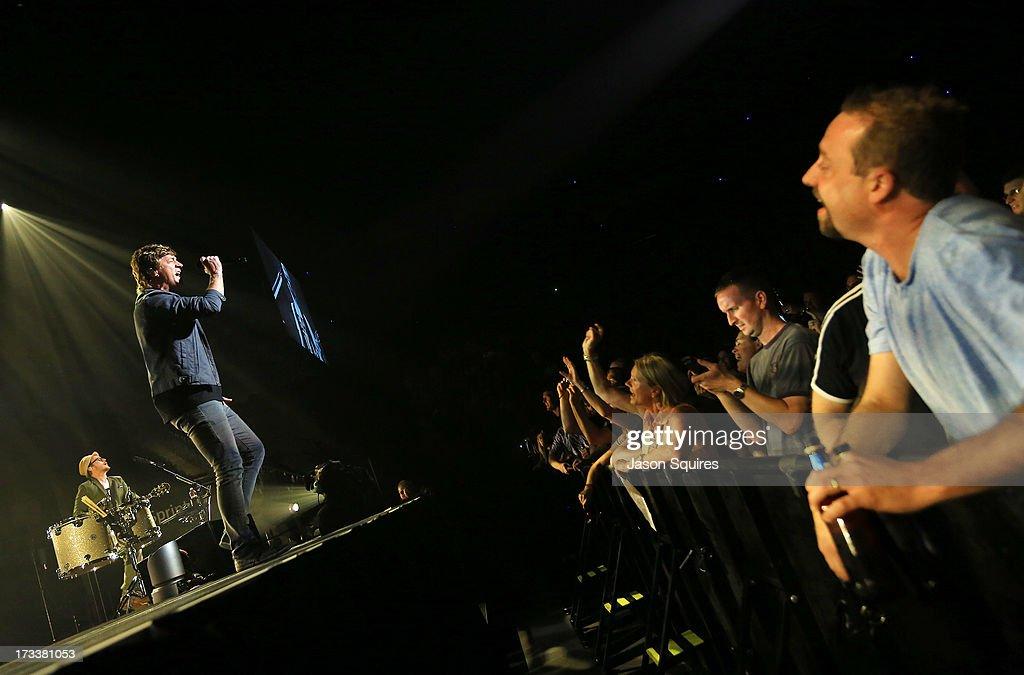 Singer Rob Thomas of Matchbox 20 performs at Sprint Center on July 12, 2013 in Kansas City, Missouri.