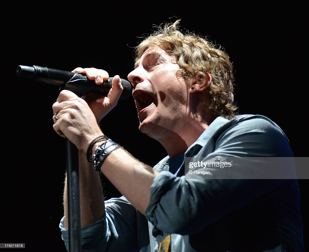 Singer Rob Thomas of Matchbox Twenty performs during the California Mid-State Fair on July 21, 2013 in Paso Robles, California.