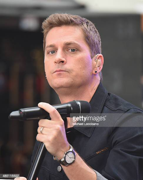 Singer Rob Thomas performs on NBC's 'Today' at Rockefeller Plaza on August 24 2015 in New York City