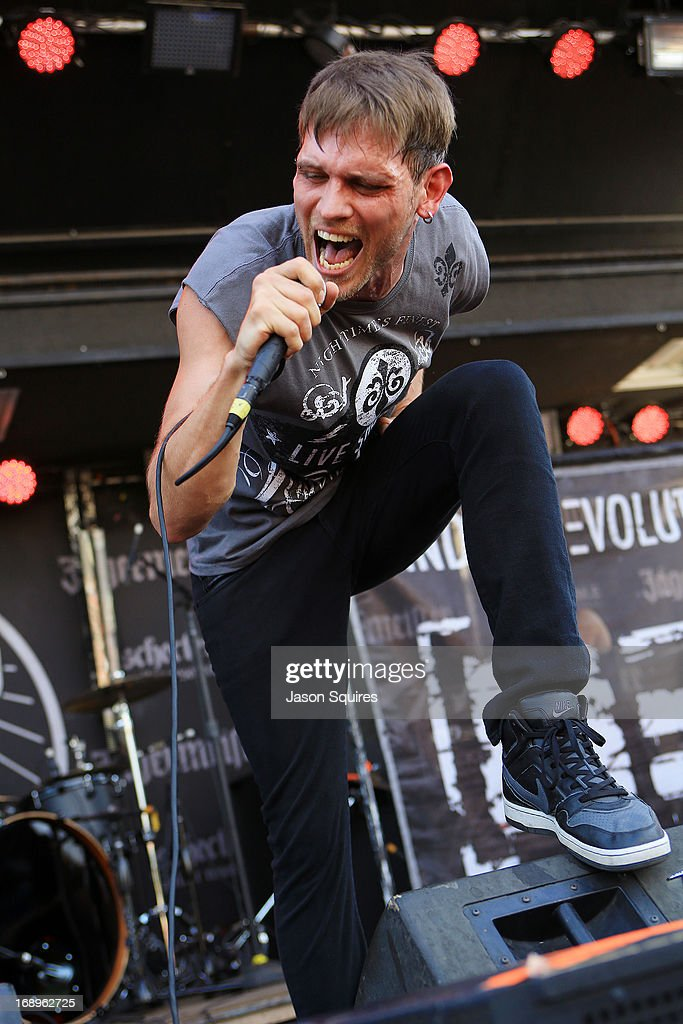 Singer Rob Ulrich of Mindset Evolution performs during 2013 Rock On The Range at Columbus Crew Stadium on May 17, 2013 in Columbus, Ohio.