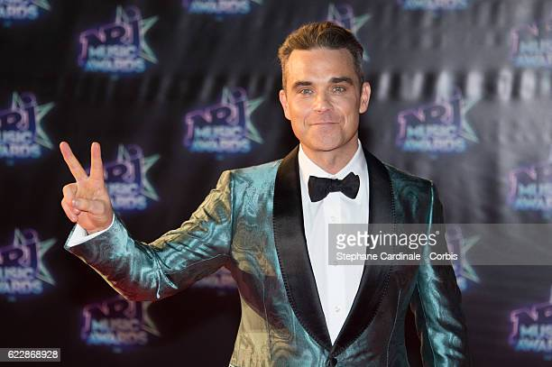 Singer Robbie Williams attends the 18th NRJ Music Awards at Palais des Festivals on November 12 2016 in Cannes France