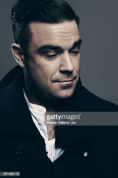 Singer Robbie Williams is photographed for a portait shoot on December 5 2012 in London England