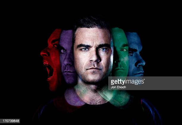Singer Robbie Williams is photographed for Shortlist magazine on August 28 2012 in London England