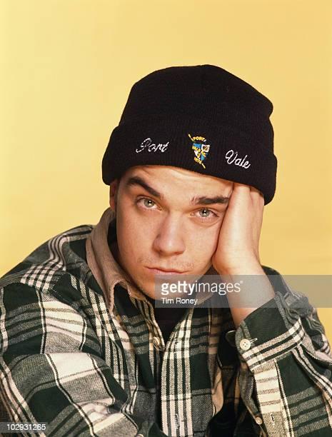 Singer Robbie Williams of English boy band Take That circa 1993
