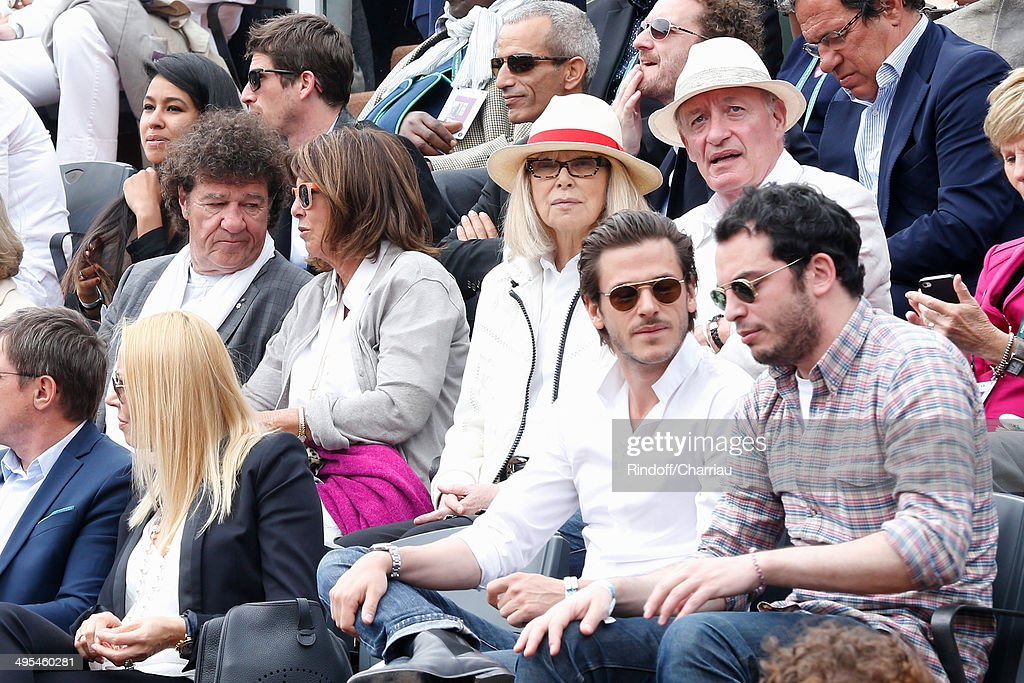 Celebrities At French Open 2014 : Day 10