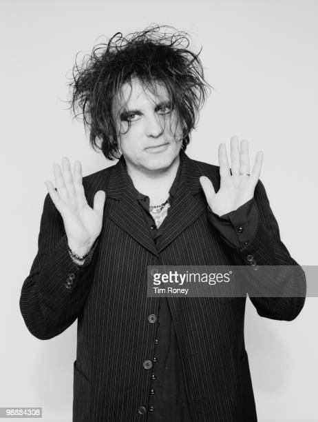 Singer Robert Smith of English pop group The Cure 12th November 2001