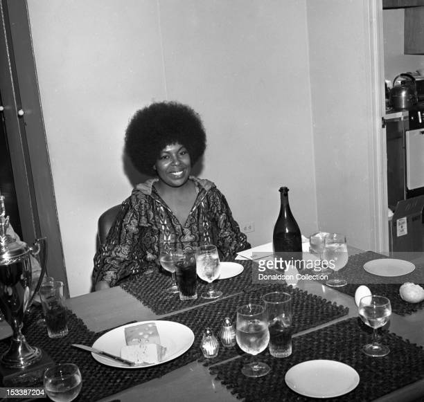 Singer Roberta Flack at a luncheon to celebrate her resigning to Atlantic Records on August 4 1970 in New York New York