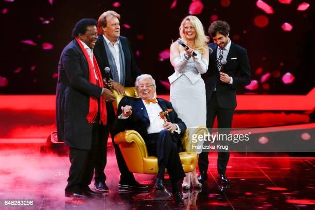 Singer Roberto Blanco german singer Howard Carpendale german moderator Barbara Schoeneberger german singer Max Giesinger and german moderator and...