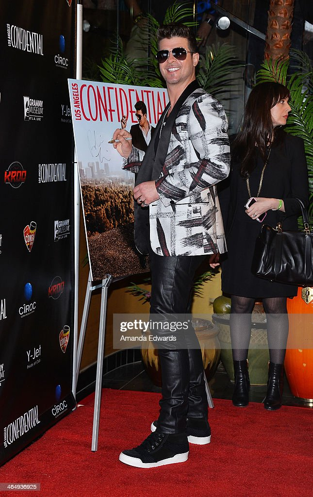 Los Angeles Confidential Grammy Party With Robin Thicke - Arrivals